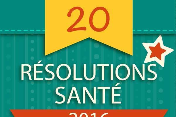 20 résolutions santé pour 2017
