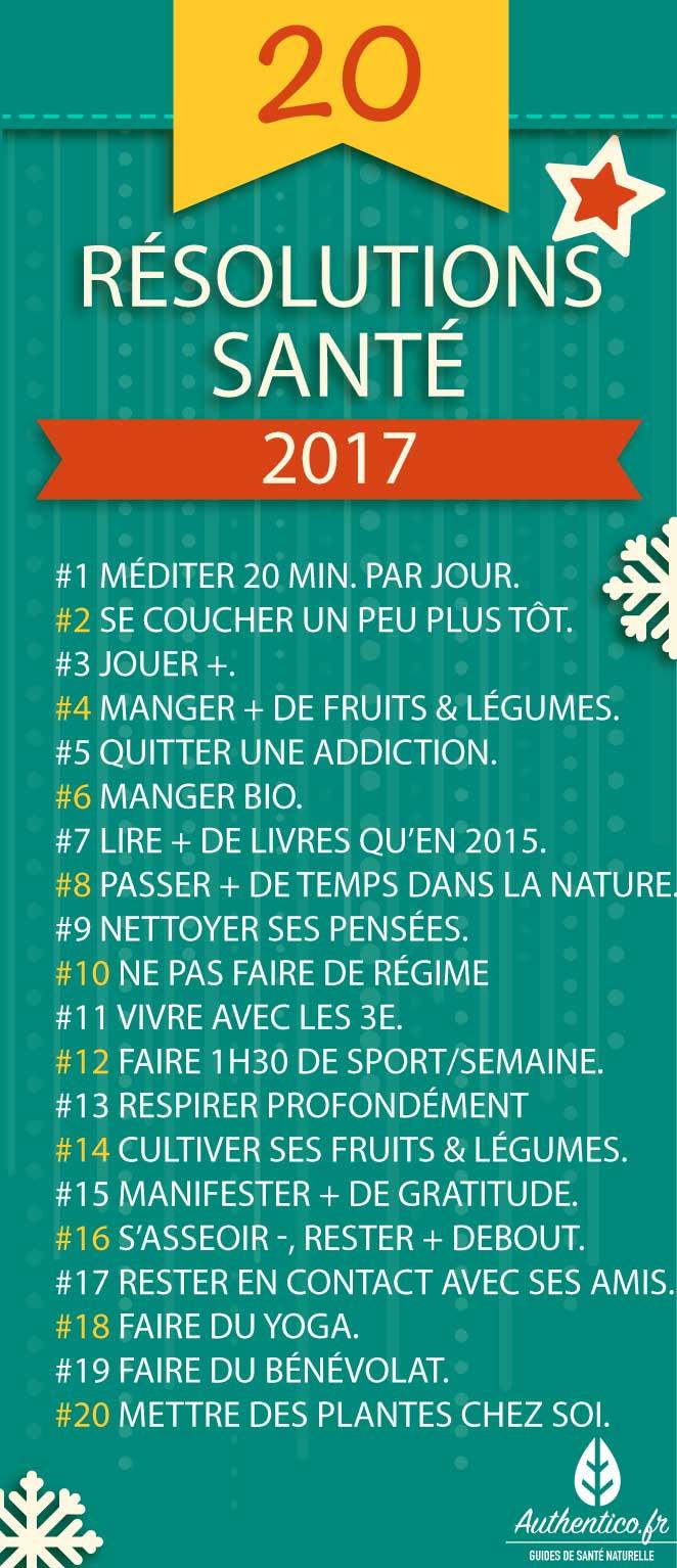20 bonnes r solutions sant pour 2017