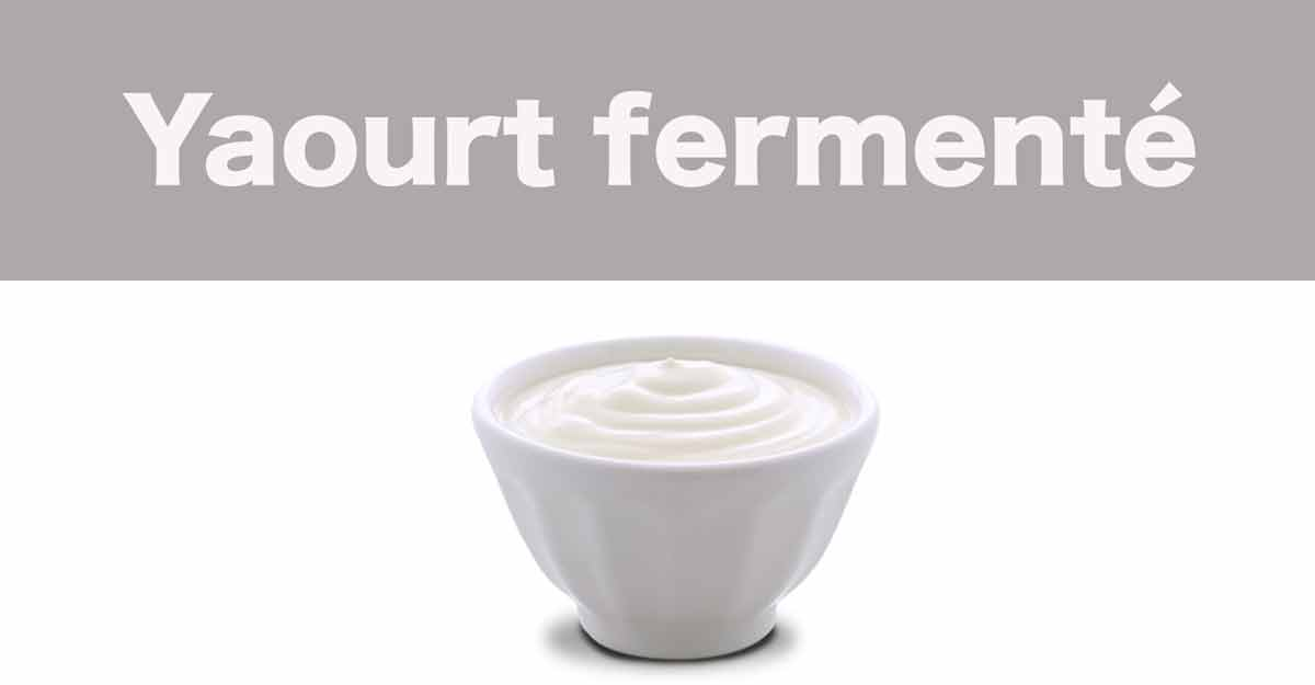 yaourt fermente